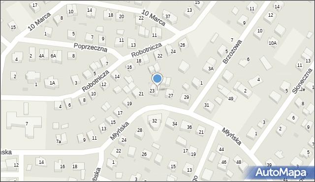 Luzino, Młyńska, 25, mapa Luzino