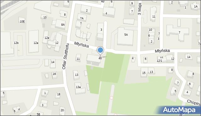 Luzino, Młyńska, 4o, mapa Luzino