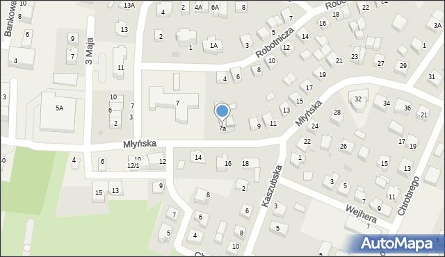 Luzino, Młyńska, 7a, mapa Luzino