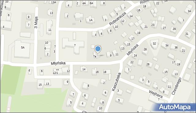 Luzino, Młyńska, 7b, mapa Luzino