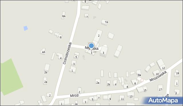 Miękinia, Młyńska, 1, mapa Miękinia