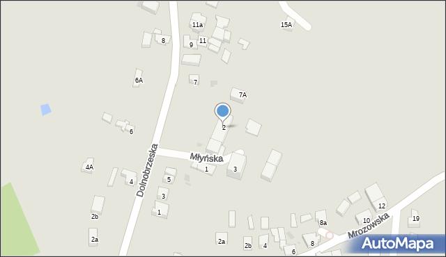 Miękinia, Młyńska, 2, mapa Miękinia