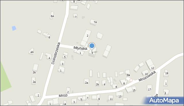 Miękinia, Młyńska, 3, mapa Miękinia