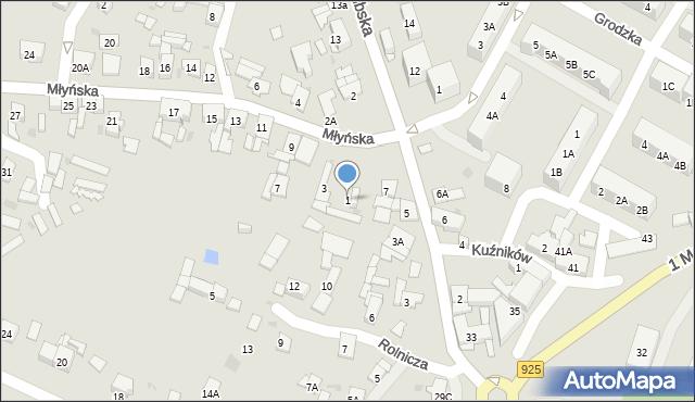 Ruda Śląska, Młyńska, 1, mapa Rudy Śląskiej