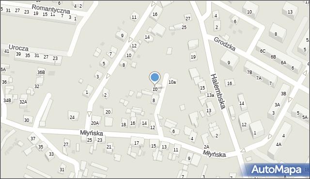 Ruda Śląska, Młyńska, 10, mapa Rudy Śląskiej