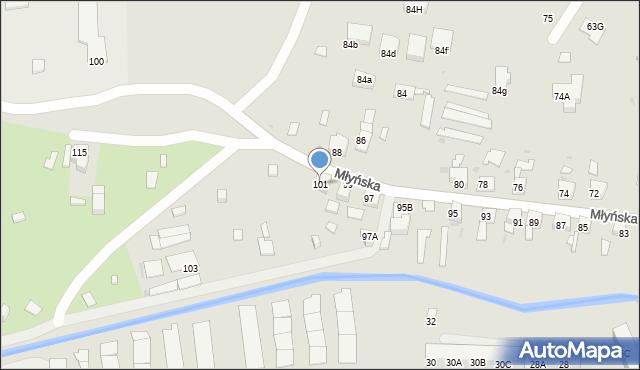 Ruda Śląska, Młyńska, 101, mapa Rudy Śląskiej