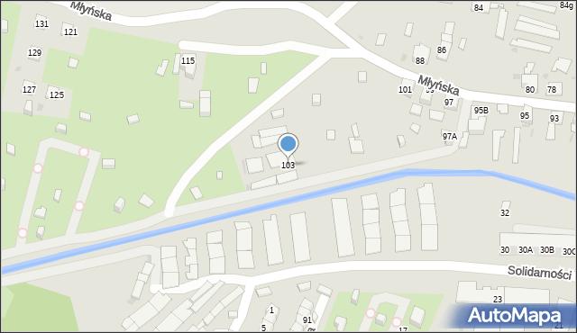 Ruda Śląska, Młyńska, 103, mapa Rudy Śląskiej