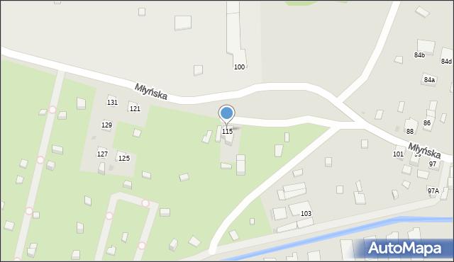 Ruda Śląska, Młyńska, 115, mapa Rudy Śląskiej