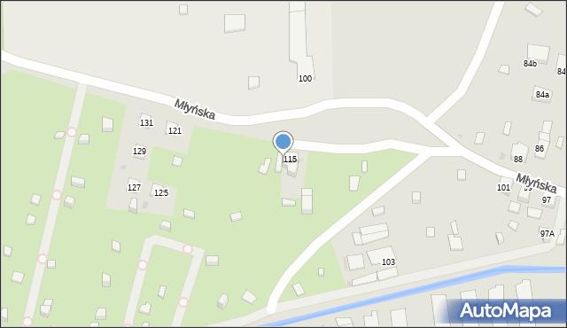 Ruda Śląska, Młyńska, 117, mapa Rudy Śląskiej