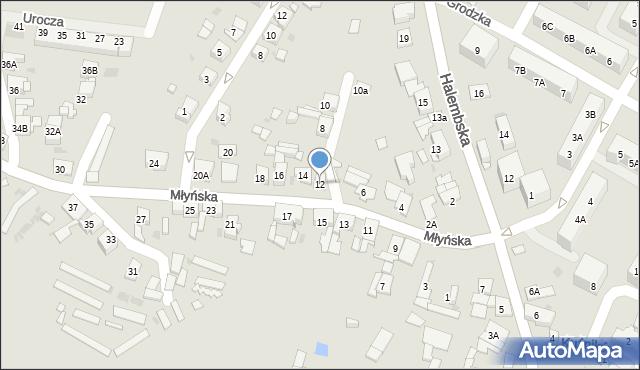 Ruda Śląska, Młyńska, 12, mapa Rudy Śląskiej