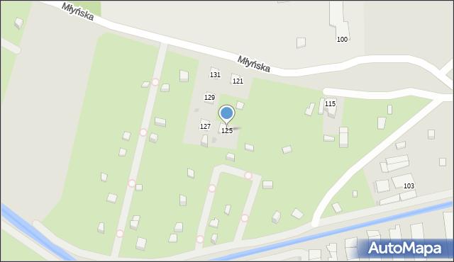 Ruda Śląska, Młyńska, 125, mapa Rudy Śląskiej