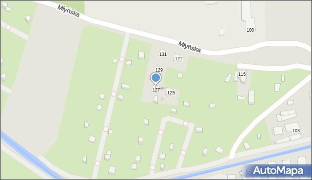 Ruda Śląska, Młyńska, 127, mapa Rudy Śląskiej