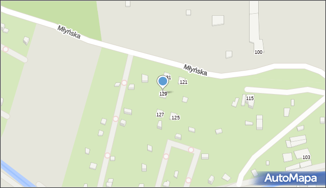 Ruda Śląska, Młyńska, 129, mapa Rudy Śląskiej