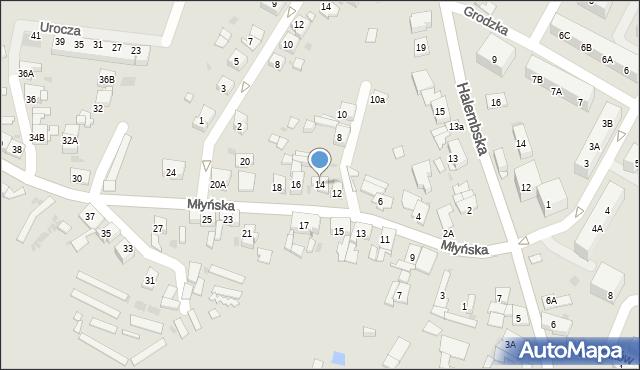 Ruda Śląska, Młyńska, 14, mapa Rudy Śląskiej