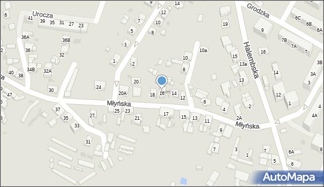 Ruda Śląska, Młyńska, 16, mapa Rudy Śląskiej