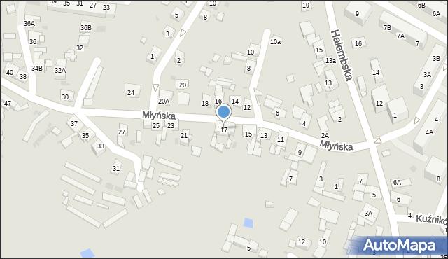 Ruda Śląska, Młyńska, 17, mapa Rudy Śląskiej