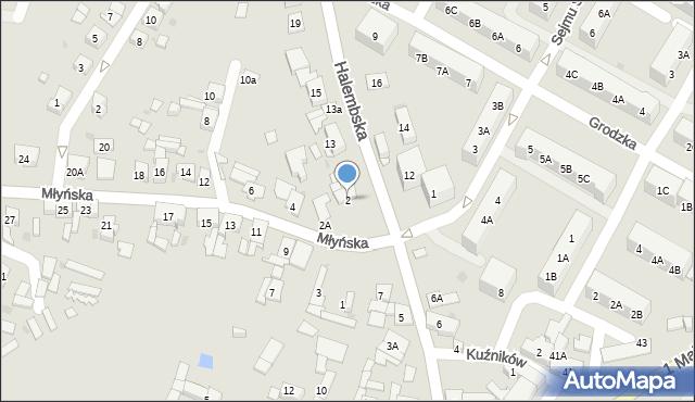 Ruda Śląska, Młyńska, 2, mapa Rudy Śląskiej