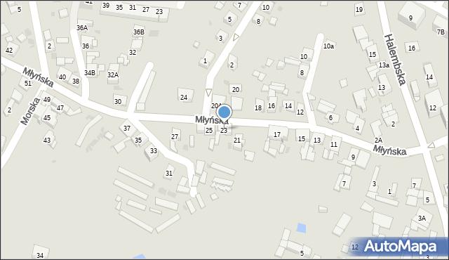 Ruda Śląska, Młyńska, 23, mapa Rudy Śląskiej