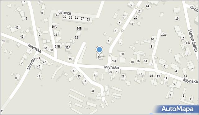 Ruda Śląska, Młyńska, 24, mapa Rudy Śląskiej