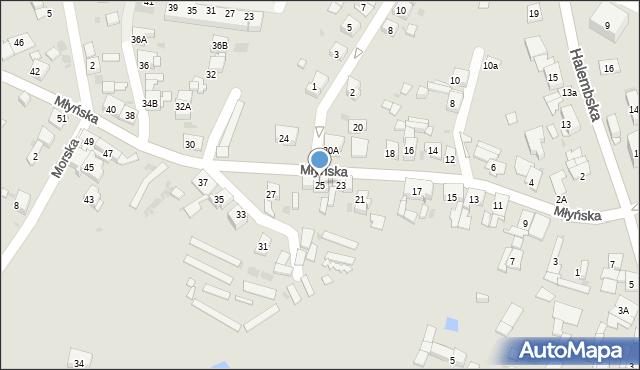 Ruda Śląska, Młyńska, 25, mapa Rudy Śląskiej