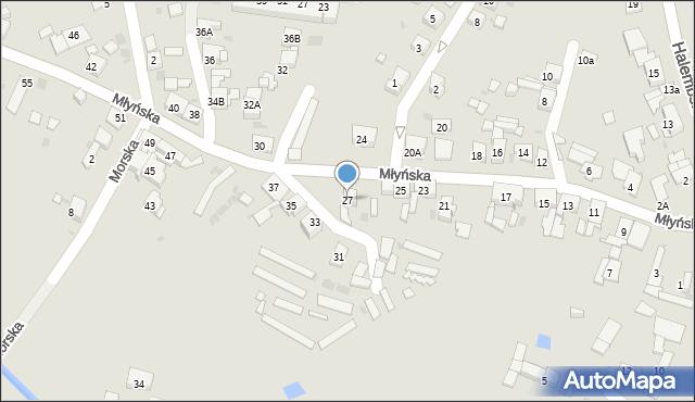 Ruda Śląska, Młyńska, 27, mapa Rudy Śląskiej