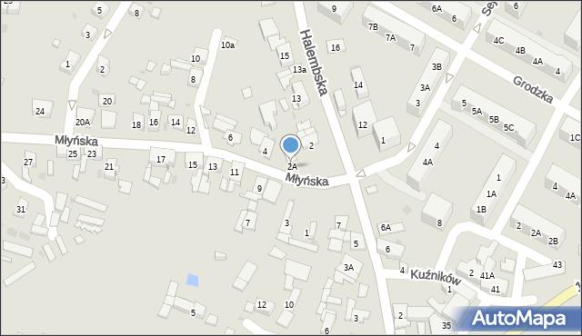 Ruda Śląska, Młyńska, 2A, mapa Rudy Śląskiej