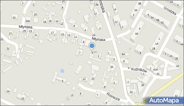 Ruda Śląska, Młyńska, 3, mapa Rudy Śląskiej