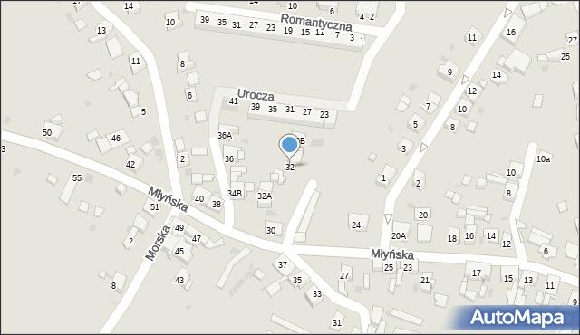Ruda Śląska, Młyńska, 32, mapa Rudy Śląskiej