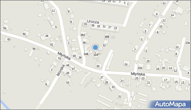 Ruda Śląska, Młyńska, 32A, mapa Rudy Śląskiej