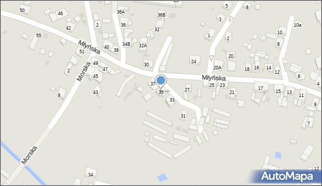 Ruda Śląska, Młyńska, 35, mapa Rudy Śląskiej