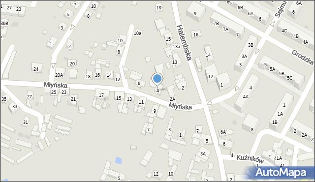 Ruda Śląska, Młyńska, 4, mapa Rudy Śląskiej