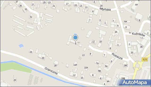 Ruda Śląska, Młyńska, 5, mapa Rudy Śląskiej