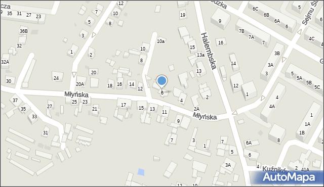 Ruda Śląska, Młyńska, 6, mapa Rudy Śląskiej