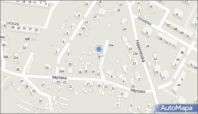 Ruda Śląska, Młyńska, 8, mapa Rudy Śląskiej