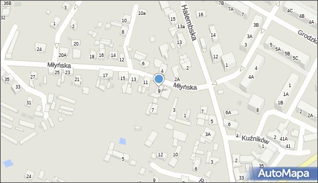 Ruda Śląska, Młyńska, 9, mapa Rudy Śląskiej