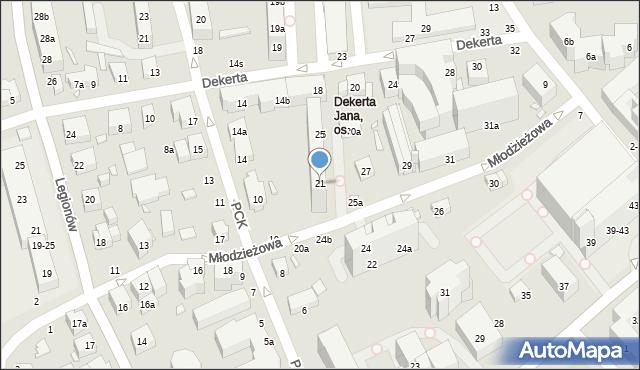 Toruń, Młodzieżowa, 21, mapa Torunia