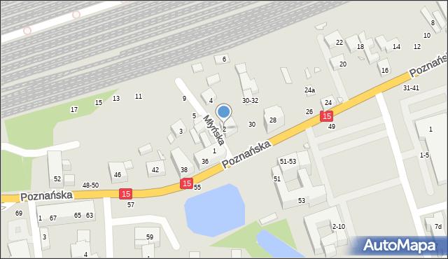 Toruń, Młyńska, 2, mapa Torunia