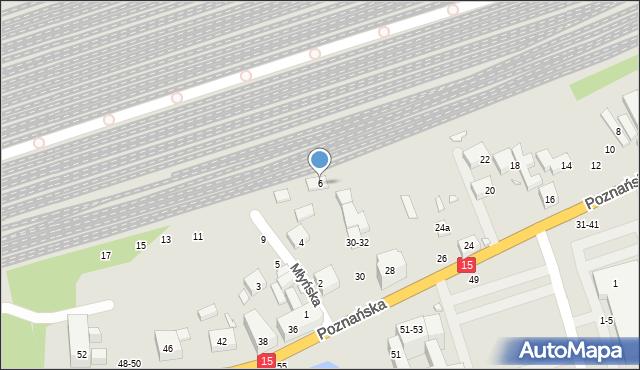 Toruń, Młyńska, 6, mapa Torunia