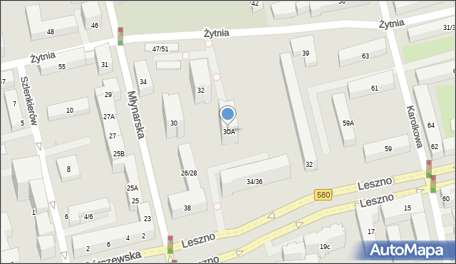 Warszawa, Młynarska, 30A, mapa Warszawy