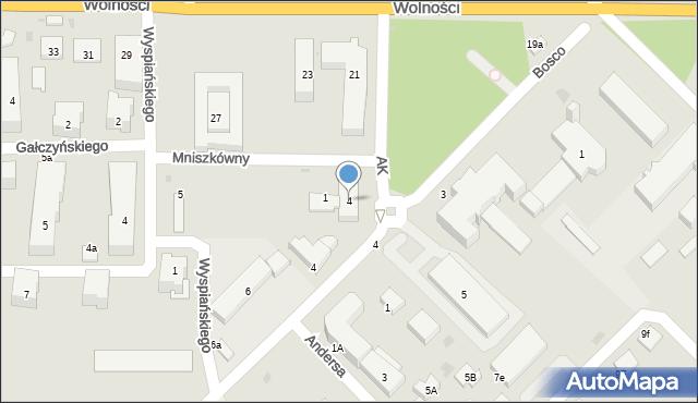 Sokołów Podlaski, Mniszkówny Heleny, 4, mapa Sokołów Podlaski