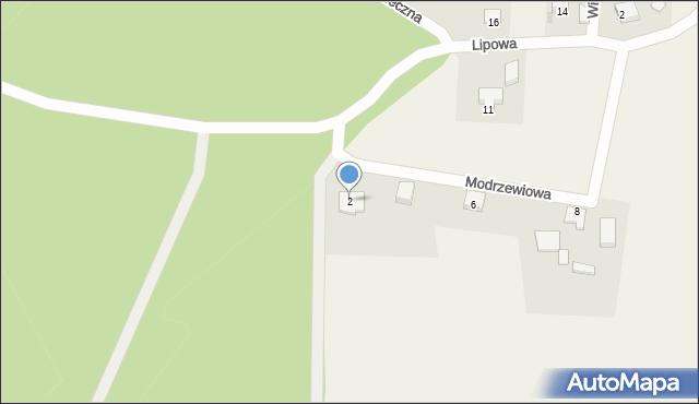Barłomino, Modrzewiowa, 2, mapa Barłomino