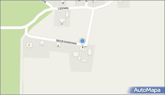 Barłomino, Modrzewiowa, 8, mapa Barłomino