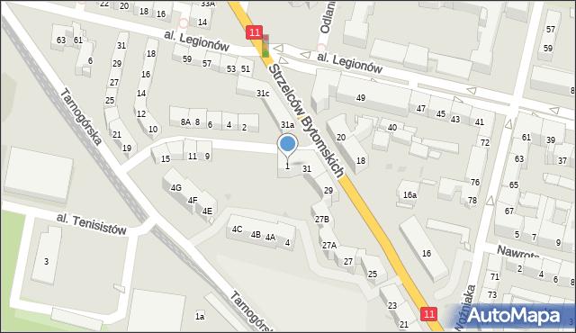 Bytom, Morcinka Gustawa, 1, mapa Bytomia