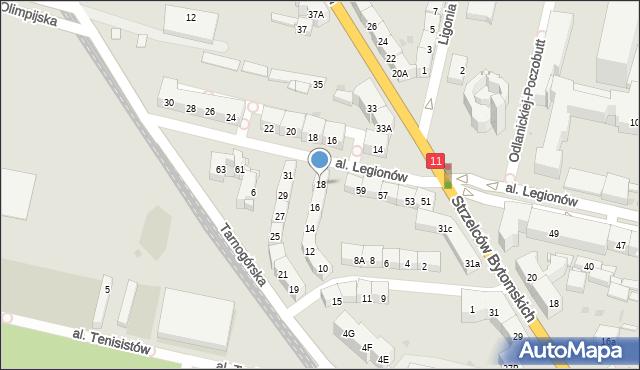 Bytom, Morcinka Gustawa, 18, mapa Bytomia