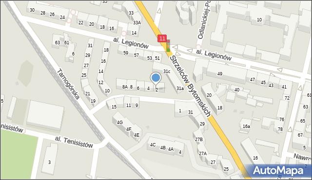 Bytom, Morcinka Gustawa, 2, mapa Bytomia