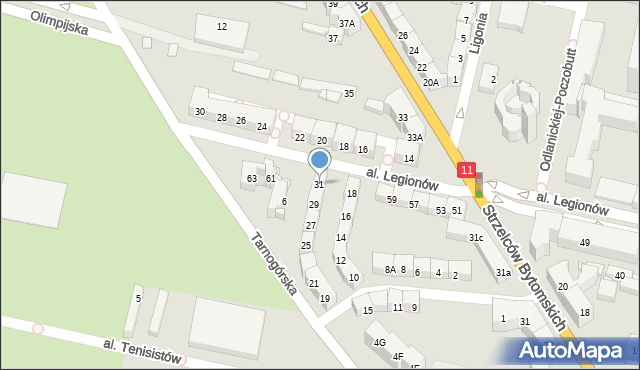 Bytom, Morcinka Gustawa, 31, mapa Bytomia