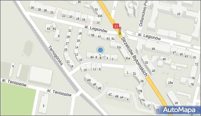 Bytom, Morcinka Gustawa, 6, mapa Bytomia