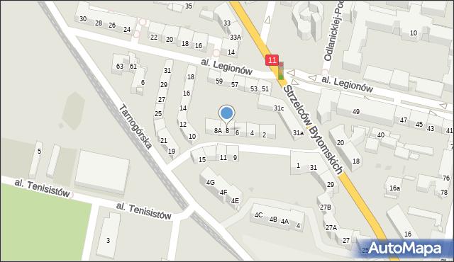 Bytom, Morcinka Gustawa, 8, mapa Bytomia