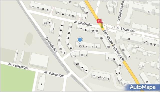 Bytom, Morcinka Gustawa, 8A, mapa Bytomia