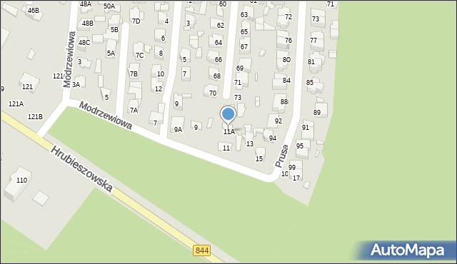 Chełm, Modrzewiowa, 11A, mapa Chełma